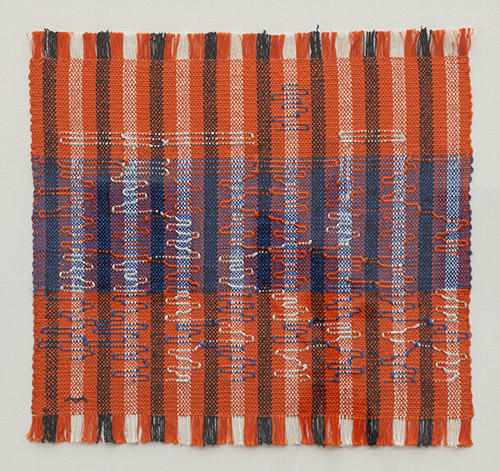 Anni Albers, Intersecting, 1962. Coton et rayon, 40 x 42 cm. Josef Albers Museum Quadrat, Bottrop. © 2021 The Josef and Anni AlbersFoundation/Artists Rights Society (ARS), NewYork/ADAGP, Paris 2021.