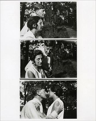 Josef et Anni Albers dans le jardin de la maison des maîtres au Bauhaus, Dessau, vers 1925. Photographe anonyme. The Josef and Anni Albers Foundation.