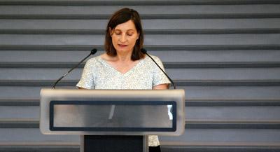 """Interview de Julia Garimorth, commissaire de l'exposition, par Anne-Frédérique Fer, à Paris, le 9 septembre 2021, durée 14'51"""". © FranceFineArt."""