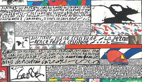 Jean Cortot, Éloge d'Henri Michaux 1997-2000. Technique mixte sur toile, 195 x 130 cm. © Juan Cruz Ibáñez.