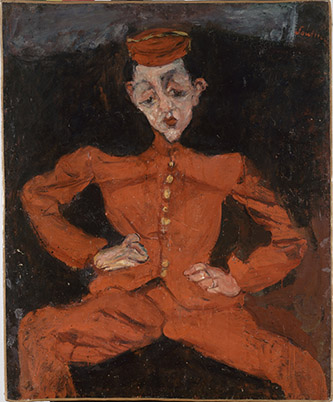 Chaïm Soutine (1893-1943), Le groom (Le chasseur.)Paris, Centre Pompidou - Musée national d'art moderne - Centre de creéation industrielle. Huile sur toile, 98 x 80,50 cm. Photo ˝ Centre Pompidou, MNAM-CCI, Dist. RMN-Grand Palais / Philippe Migeat.
