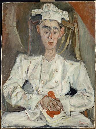 Chaïm Soutine (1893-1943), Le Petit Pâtissier, 1922-1924. Huile sur toile, 92 x 65 cm. Paris, musée de l'Orangerie. Photo ˝ Musée de l'Orangerie, dist. RMN-Grand Palais / Thierry Le Mage.
