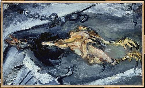 Chaïm Soutine (1893-1943), Le poulet plumé, 1925. Huile sur toile, 67 x 40 cm. Paris, musée de l'Orangerie. Photo ˝ RMN-Grand Palais (musée de l'Orangerie) / Hervé Lewandowski.