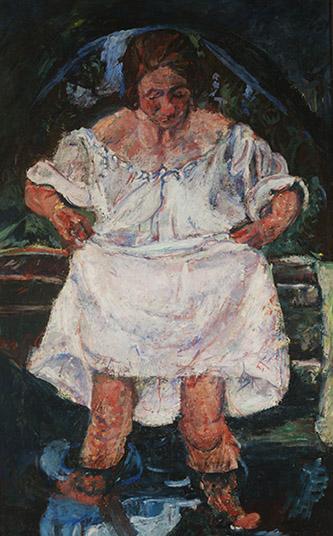 Chaïm Soutine (1893-1943), Femme entrant dans l'eau, 1931. Huile sur toile 113,6 x 71,8. Londres, MAGMA˝ Museum of Avant-Garde Mastery of Europe (MAGMA of Europe).