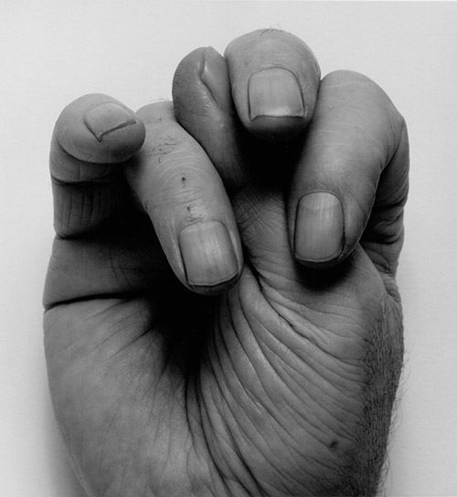 John Coplans, Front Hand, Thumb Up, Middle, 1988. © The John Coplans Trust.