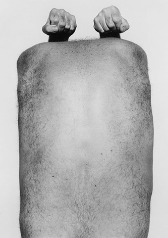 John Coplans, Back with Arms Above, 1984. © The John Coplans Trust.