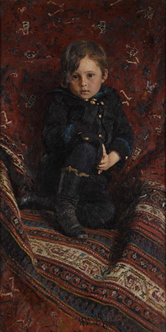 Ilya Répine, Portrait de Youri Répine enfant, 1882. Huile sur toile. © Galerie nationale Trétiakov, Moscou.