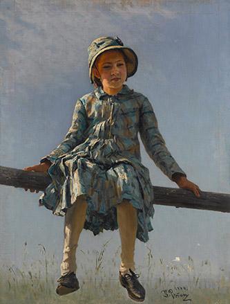 Ilya Répine, Libellule, 1884. Huile sur toile. © Galerie nationale Trétiakov, Moscou.