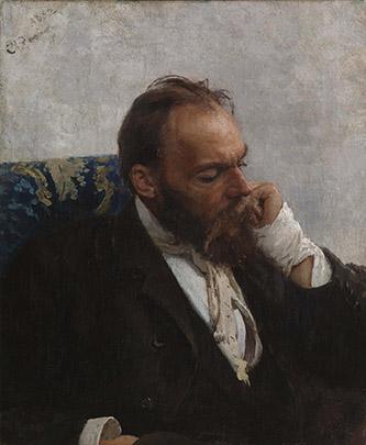 Ilya Répine, Portrait de Nikolaï Mourachko, 1882. Huile sur toile. © Finnish National Gallery / Musée d'Art de l'Ateneum, Helsinki. Photo © Finnish National Gallery / Jenni Nurminen.