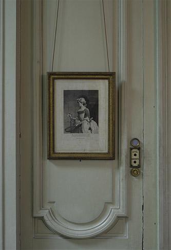 François-Bernard Lépicié, d'après Jean Siméon Chardin, Jeune fille au volant, estampe, 1742. Paris, musée Nissim de Camondo. © MAD, Paris / Christophe Dellière.