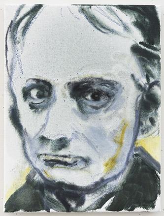 Marlene Dumas, Charles Baudelaire, 2020. Oil on canvas, 40 x 30 cm. Courtesy Marlene Dumas. Photo : © Peter Cox, Eindhoven.