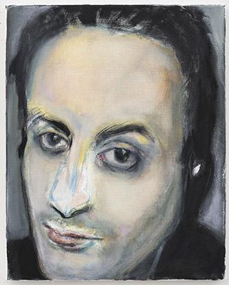 Marlene Dumas, Hafid Bouazza, 2020. Oil on canvas, 50 x 40 cm. Courtesy Marlene Dumas. Photo : © Peter Cox, Eindhoven.