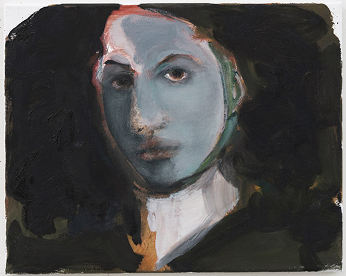 Marlene Dumas, Jeanne Duval, 2020. Oil on canvas, 40 x 50 cm. Courtesy Marlene Dumas. Photo : © Peter Cox, Eindhoven.
