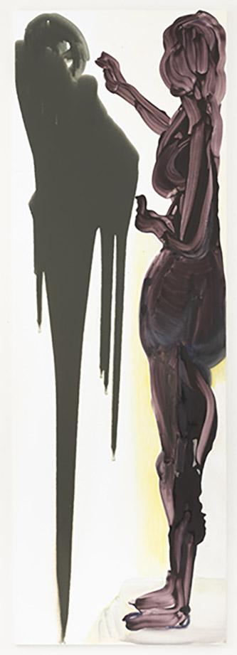 Marlene Dumas, The Origin of Painting (The Double Room), 2018. Oil on canvas, 300 x 100 cm. Courtesy Marlene Dumas . Photo : © Peter Cox, Eindhoven.