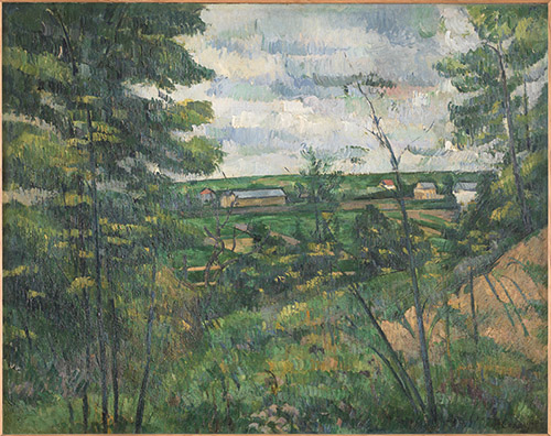 Paul Cézanne (1839-1906), La Plaine de Saint-Ouen-l'Aumône vue prise des carrières du Chou (Vallée de l'Oise), Vers 1880. Huile sur toile, 72 x 91 cm. Collection particulière. Photo © musée d'Orsay / Patrice Schmidt.