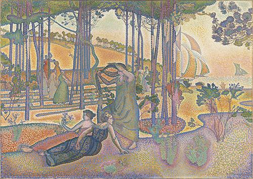 Henri-Edmond Cross (1856-1910), Composition, dit aussi L'Air du soir, 1893-1894. Huile sur toile, 116 x 164 cm. Paris, musée d'Orsay. Photo © Musée d'Orsay, Dist. RMN-Grand Palais / Hervé Lewandowski.