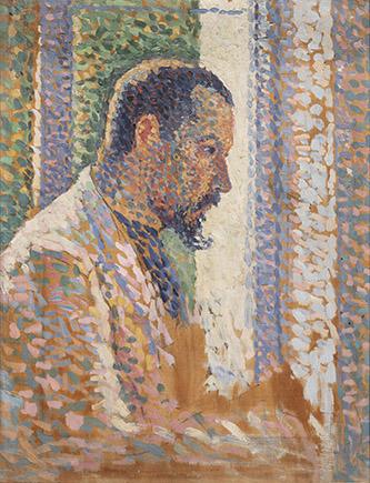 Maximilien Luce (1858-1941), Portrait de Paul Signac, 1889. Huile sur bois, 34,8 x 26,5 cm. Collection particulière. Photo © musée d'Orsay / Patrice Schmidt.