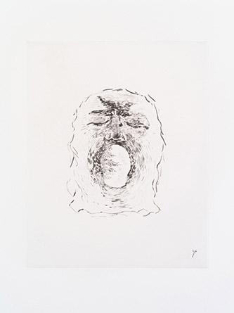 Giuseppe Penone. Paesaggio (Paysage), 2015. Pointe sèche. BnF, Estampes et photographie. © Bertrand Huet / Galerie René Tazé.