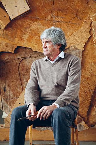 Giuseppe Penone dans son atelier, Turin, 2014. © Agence REA / Contrasto / Martino Lombezzi / Image de presse.