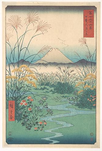 Utagawa Hiroshige, Otsukigahara dans la province de Kai, 1858. Xylographie, 35,6 x 24,1 cm. The Metropolitan Museum of Art, New York / Purchase, Joseph Pulitzer Bequest, 1918.