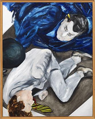Jacqueline de Jong, 31 maart 1981, série Série noire, 1981, huile sur toile, 120 × 90 cm. Crédit : courtesy de Dürst Britt & Mayhew, La Haye.