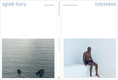 Double couverture de Odyssées d'Aglaé Bory dans le cadre du Prix Caritas Photo Sociale aux Editions Filigranes. © Aglaé Bory. © Editions Filigranes.