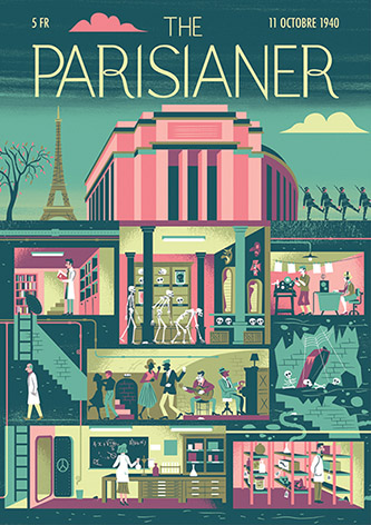 The Parisianer Museum - Illustration de Alexandre Clérisse.