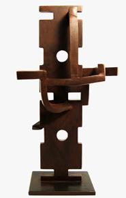 Denis Schmitt. Sentinelle. acier patiné brun, pièce unique, 41x29x22 cm. Photographie © Florian Schmitt.