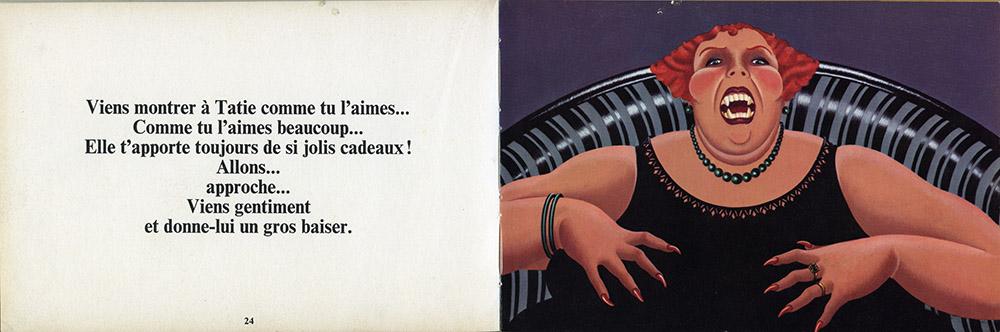 """Double page 24-25, """"La raison des plus grands n'est pas toujours la meilleure"""" d'Albert Cullum aux éditions Encore un Livre d'Harlin Quist, édition de 1976."""