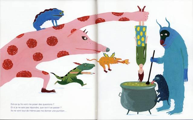 7/ 8/pages intérieures,Ils arrivent !, texte de Sylvie Neeman, illustration d'Albertine aux éditions La Joie de lire, 2018.