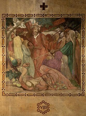 """Henri Marret, fresque de Saint-Louis de Vincennes – numéro VIII des """"quatorze stations du chemin de croix"""", 1921. Photographie © Clément Guillaume."""