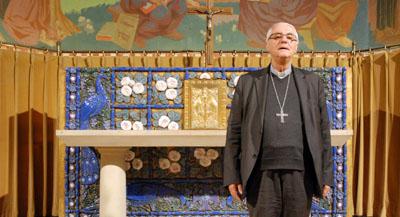 PODCAST - Interview de Monseigneur Michel Santier, évêque de Créteil, par Anne-Frédérique Fer, à Vincennes, le 11 octobre 2018, durée 6'41. © FranceFineArt. (photographie de © Damian Noszkowicz)