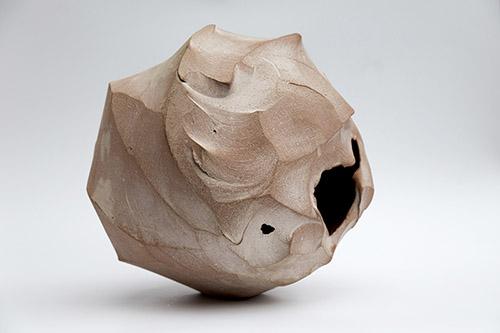 "Gao Zhenyu, de la série ""Le nirvana de l'argile"", Zisha, 33x33cm."