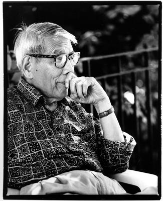 Jeff Hargrove, Portrait de CHU Teh-Chun, 1995. ©Jeff Hargrove. Avec l' aimable autorisation de la fondation CHU Teh-Chun.