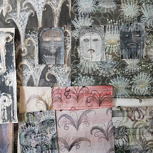 Camille Fischer, vue de l'atelier #12. © FranceFineArt.com