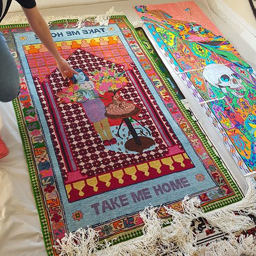 Araks Sahakyan, vue de l'atelier #42. © FranceFineArt.com