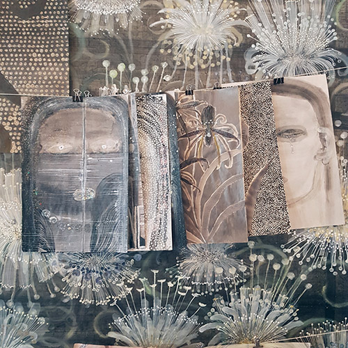 Vue de l'atelier de Camille Fischer, chambre #12 - DRAWING FACTORY. © Anne-Frédérique Fer / FranceFineArt.com