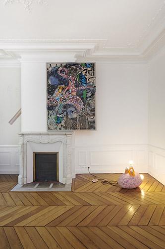 Vue de l'exposition de Lamarche-Ovize, La bouche d'ombre, présentée à Fabre du 17 mai au 13 juillet 2019. Photo Guillaume Onimus.