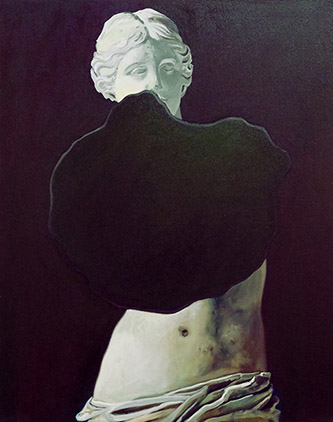 Coraline de Chiara, La cécité, 2016. Oil on canvas, 82x103cm, private collection.