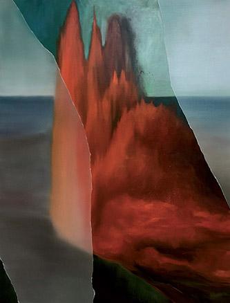 Coraline de Chiara, Volcano songs, 2019. Oil on canvas, 195x150 cm.