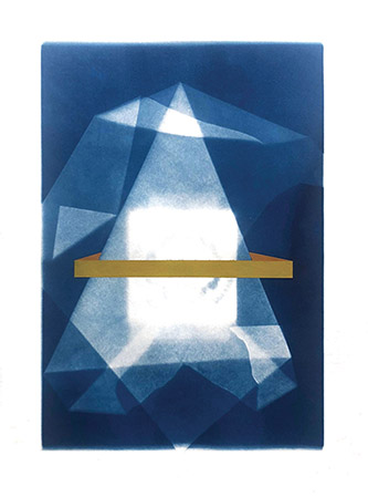 Coraline de Chiara, Pachamama, 2020. Acrylic and cyanotype on paper, 36,4x28 cm.